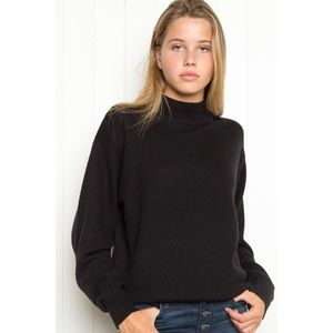Brandy Melville Black Marlene Mock Neck Sweater